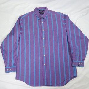 VTG 90s NAUTICA Purple/Blue Striped Button Shirt